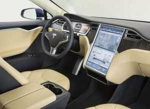 Интерьер Тесла Model S