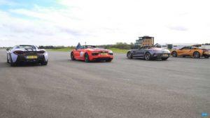 Гонка McLaren 570S и автомобилей «большой тройки»