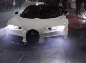 Появилось видео с гонками на Bugatti Chiron
